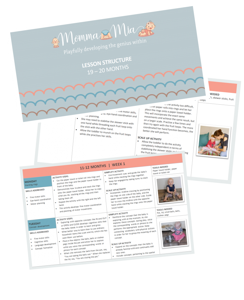 MommaMia Curriculum Page